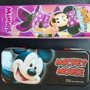Two Mickey Mouse and Minnie Mouse Disney 2 sided P